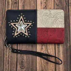 Texas Pride Western Wristlet Wallet
